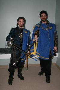 Duncan & I after the Calivers were officially chartered into the barony